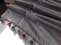 french pleated curtains in silk with trim for home in teddington